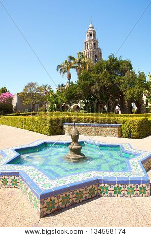 Balboa park cultural center in San Diego California.