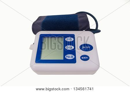 The Measuring blood pressure in The White Background