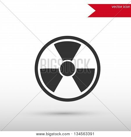 Radiation icon . Radiation symbol. Danger concept. Flat design style. Template for design.