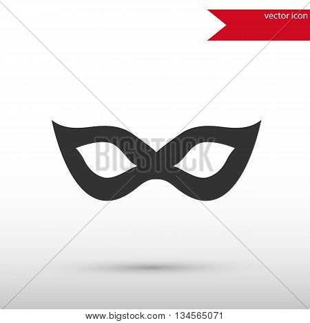 Carnival mask Icon. Carnival mask symbol. Flat design style. Template for design.