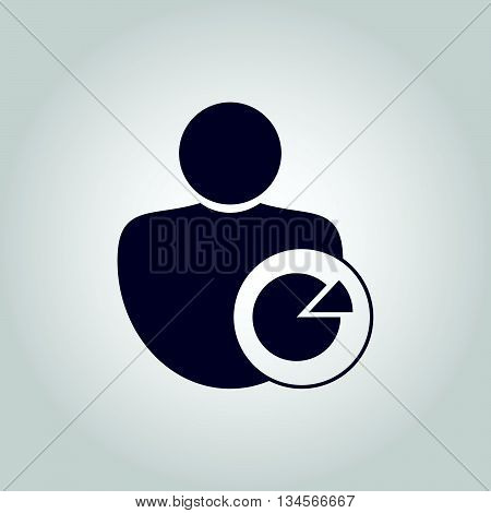 User Pie Icon In Vector Format. Premium Quality User Pie Symbol. Web Graphic User Pie Sign On Grey B