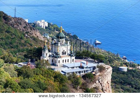 Church of Christ's Resurrection over the settlement of Foros Crimea