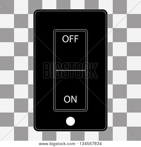 Switch. Icon Switch. Icon switch to flat style sign on a transparent background