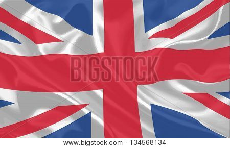 Waving flag of United kingdom background vector