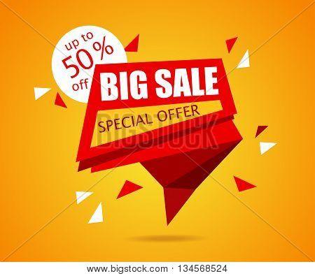 Big Sale banner. Sale Tag. Vector Sale Background Illustration for Promotional brochurebookletposter shopping flyer discount banner.