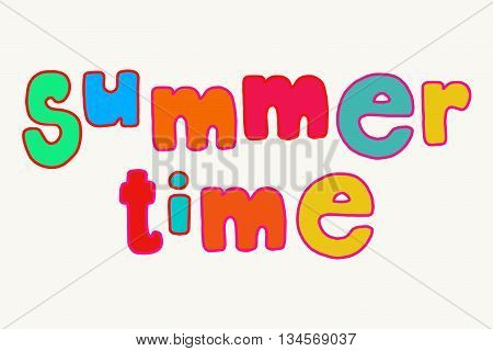 Bright Summer Time Lettering