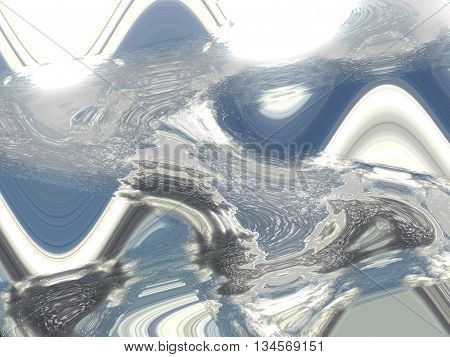 Skies with plastic wrap as computer background and visual effects