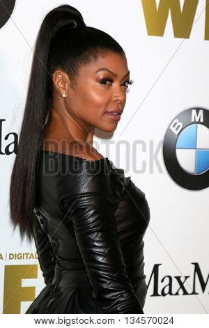 LOS ANGELES - JUN 15:  Taraji P Henson at the Women In Film 2016 Crystal and Lucy Awards at the Beverly Hilton Hotel on June 15, 2016 in Beverly Hills, CA