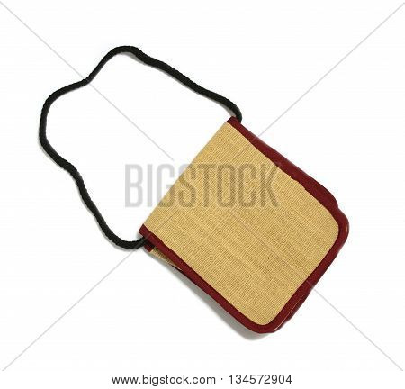 The bag isolated on white background texture