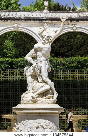 VERSAILLES, FRANCE - MAY 12, 2013: This is sculpture