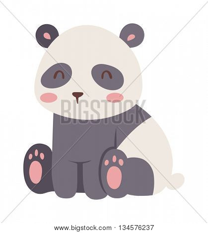 Panda bear vector illustration.