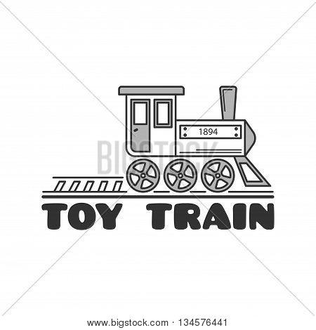 Logo Template With Children's Railway.