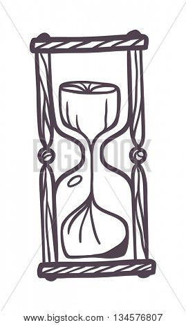 Sandglass vintage vector illustration.