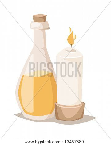 Aroma candle vector illustration.