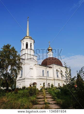 Trinity Cathedral in Onega Arkhangelsk region Russia