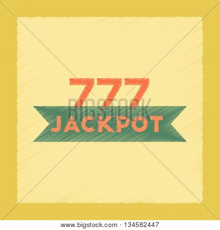 flat shading style icon poker jackpot Lucky seven