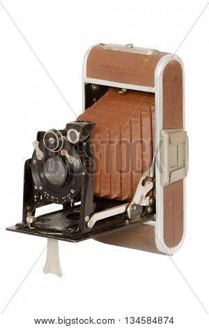 Vintage retro antique folding collapsible pocket camera