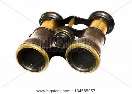 Vintage antique retro military army binocular field glasses