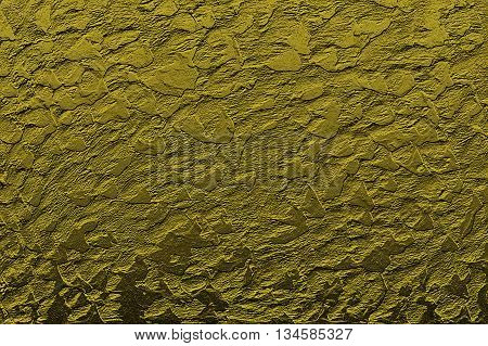 Abstract background of a stylized gold wall