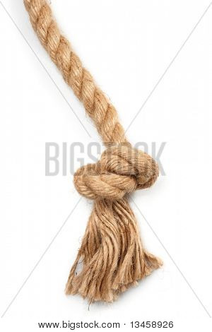 rope fastened in knots