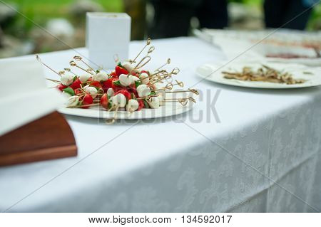 particular of appetizer during a wedding party