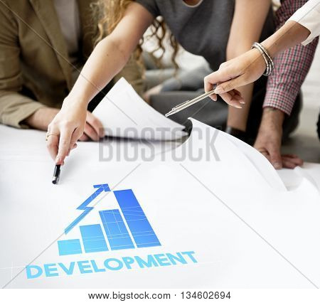 Development Graph Big Business Graphic Concept