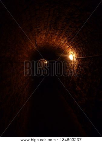 Dark And Scarry Tunnel With Vault