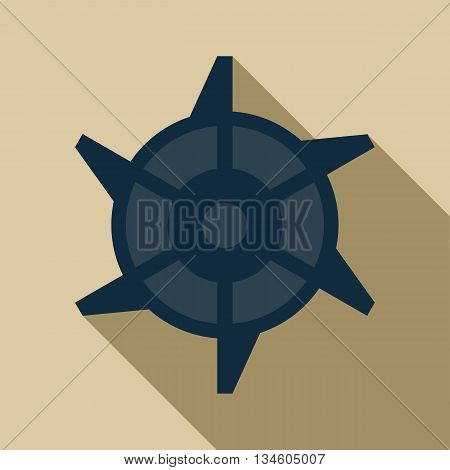 Mining Industry cogwheel icon in flat style on a beige background