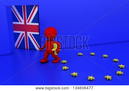 3D Render of EU Referendum Man
