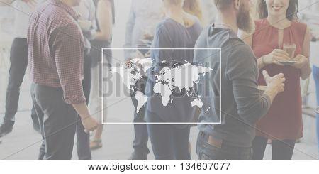 Business World Worldwide Continent Marketing Concept