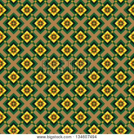 raphic ornament made geometric shapes different colors shapes and sizes