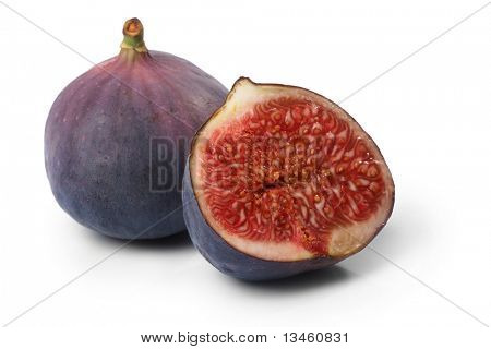 Fresh figs isolated on the white