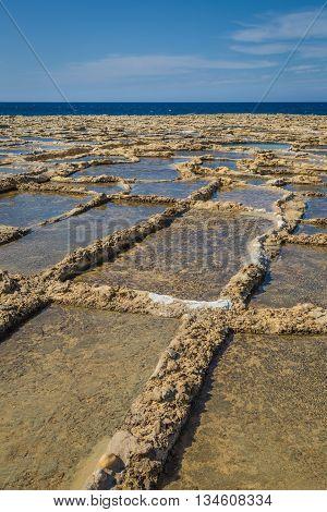 Salt Pans On Xwejni Bay