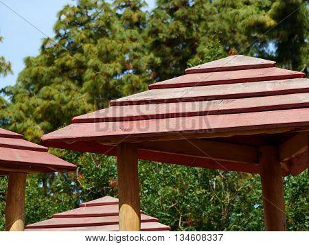 Modern classical design garden pergola arbor made of wood