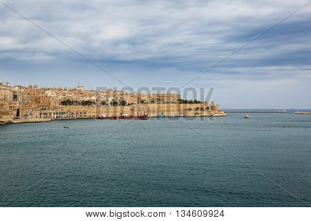 View Of Valletta City Walls