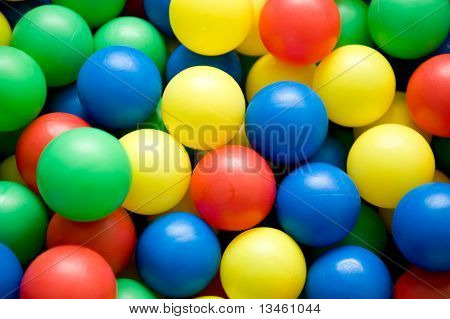 Color Balls Close Up