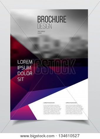 Abstract Business Brochure Design Vector Template In A4 Size. Document Or Book Cover. Annual Report