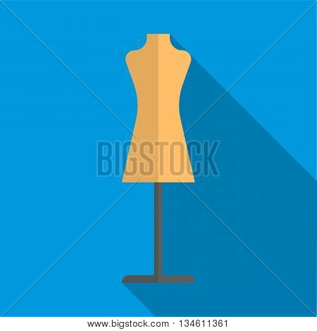 Dressmakers model icon in flat style on a blue background