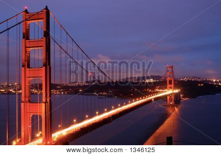 Golden Gate Bridge Glows In Dusk
