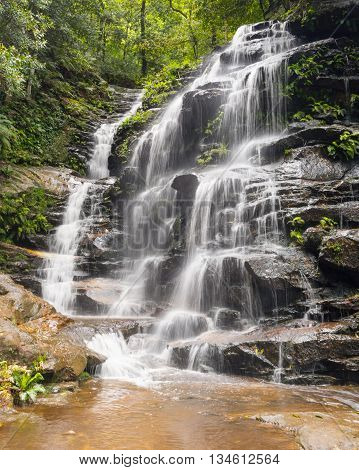 Empress Falls on the National Pass Walking Track in Blue Mountains National Park, New South Wales, Australia.
