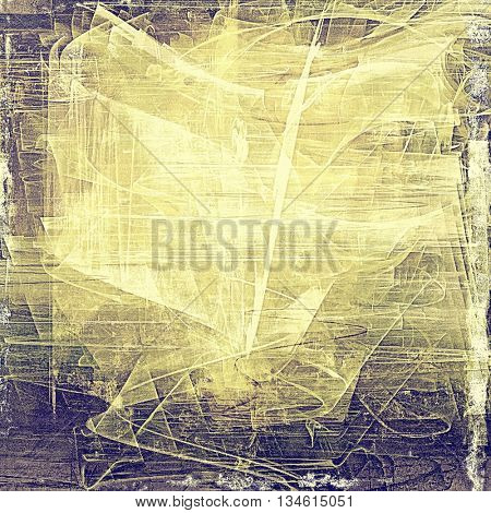Colorful grunge texture or background with vintage style elements and different color patterns: yellow (beige); brown; purple (violet); gray