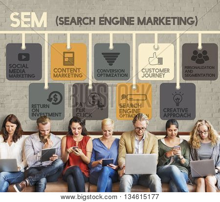 Search Engine Marketing Online Digital Concept