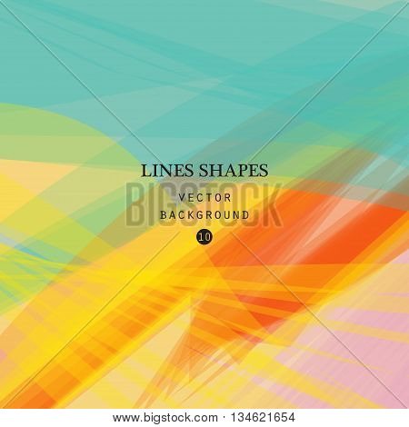 Colorful abstract vector background cyan yellow transparent wave lines shapes for brochure website and flyer design. Cyan smoke wave form. Yellow wavy shapes tropical background.