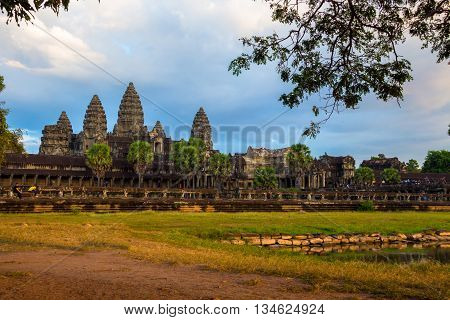 Angor Wat is ancient architecture in Cambodia