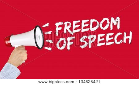 Freedom Of Speech Press Opinion Expression Censorship Censored Megaphone