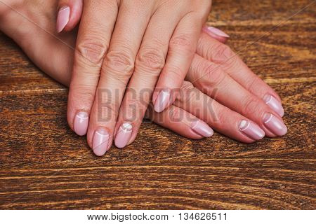 White And Pink Nail Art