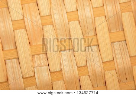 Wickered dry twig wooden background close up