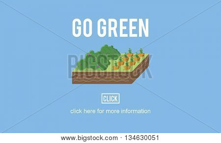 Go Green Think Conservation Environment Natural Concept