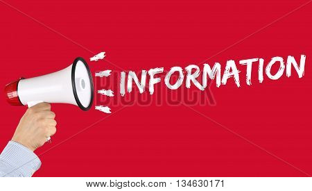 Information Info Message News Announcement Announce Communication Megaphone