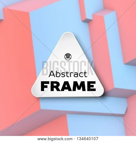 Abstract frame with overlapping cubes on the background